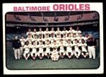 1973 Topps #278   Orioles Team Front Thumbnail