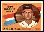 1960 Topps #126   -  Chuck Estrada Rookie Star Front Thumbnail
