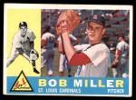 1960 Topps #101  Bob Miller  Front Thumbnail