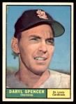 1961 Topps #357  Daryl Spencer  Front Thumbnail
