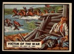 1962 Topps Civil War News #66   Victim of the War Front Thumbnail