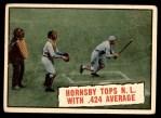 1961 Topps #404   -  Rogers Hornsby Baseball Thrills Front Thumbnail