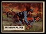 1962 Topps Civil War News #62   The General Dies Front Thumbnail