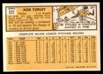 1963 Topps #322  Bob Turley  Back Thumbnail