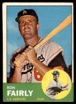 1963 Topps #105 xSTR Ron Fairly  Front Thumbnail