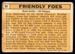 1963 Topps #68   -  Duke Snider / Gil Hodges Friendly Foes Back Thumbnail