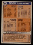 1976 Topps #460   Packers Team Checklist Back Thumbnail