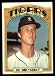 1972 Topps #535  Ed Brinkman  Front Thumbnail