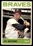 1964 Topps #35  Eddie Mathews  Front Thumbnail