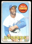1969 Topps #327  Willie Crawford  Front Thumbnail