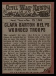 1962 Topps Civil War News #58   Angel of Mercy Back Thumbnail