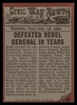 1962 Topps Civil War News #81   Deadly Defense Back Thumbnail