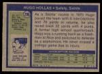 1972 Topps #296  Hugo Hollas  Back Thumbnail