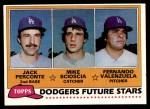1981 Topps #302   -  Fernando Valenzuela / Jack Perconte/ Mike Scioscia Dodgers Front Thumbnail
