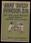 1972 Topps #348   -  George Blanda Pro Action Back Thumbnail