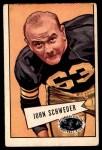 1952 Bowman Large #72  John Schweder  Front Thumbnail