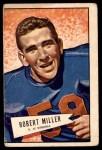 1952 Bowman Large #27  Robert Miller  Front Thumbnail