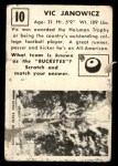 1951 Topps Magic #10  Vic Janowicz  Back Thumbnail
