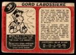 1968 O-Pee-Chee #38  Gord Labossiere  Back Thumbnail