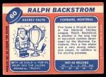 1968 Topps #60  Ralph Backstrom  Back Thumbnail