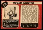 1968 O-Pee-Chee #23  Roger Crozier  Back Thumbnail
