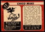 1968 O-Pee-Chee #17  Chico Maki  Back Thumbnail