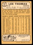1968 Topps #438  Lee Thomas  Back Thumbnail