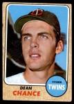 1968 Topps #255  Dean Chance  Front Thumbnail
