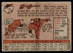1958 Topps #196  Mike Garcia  Back Thumbnail