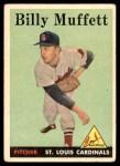 1958 Topps #143  Billy Muffett  Front Thumbnail