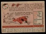 1958 Topps #284  Ray Katt  Back Thumbnail