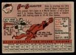 1958 Topps #142  Enos Slaughter  Back Thumbnail