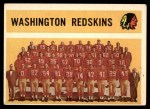 1960 Topps #132   Redskins Team Checklist Front Thumbnail