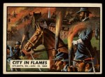 1962 Topps Civil War News #80   City in Flames Front Thumbnail