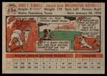 1956 Topps #234  Pete Runnels  Back Thumbnail