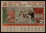 1956 Topps #235  Don Newcombe  Back Thumbnail