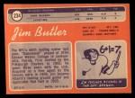 1970 Topps #234  Jim Butler  Back Thumbnail