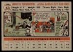 1956 Topps #53  Arnie  Portocarrero  Back Thumbnail