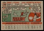 1956 Topps #198  Ed Fitzgerald  Back Thumbnail