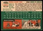 1954 Topps #211  Don Hoak  Back Thumbnail