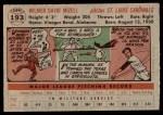 1956 Topps #193  Wilmer Mizell  Back Thumbnail