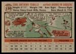 1956 Topps #190  Carl Furillo  Back Thumbnail