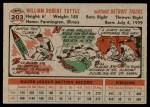 1956 Topps #203  Bill Tuttle  Back Thumbnail