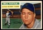 1956 Topps #203  Bill Tuttle  Front Thumbnail