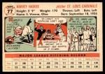1956 Topps #77  Harvey Haddix  Back Thumbnail