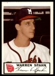 1953 Johnston Cookies #10  Warren Spahn  Front Thumbnail
