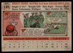 1956 Topps #186  Ron Jackson  Back Thumbnail