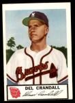1953 Johnston Cookies #15  Del Crandall  Front Thumbnail