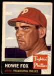 1953 Topps #22  Howard Fox  Front Thumbnail