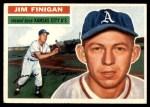 1956 Topps #22  Jim Finigan  Front Thumbnail